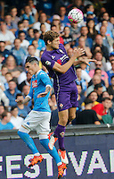 Fiorentina's Marcos Alonso     in action during the Italian Serie A soccer match between SSC Napoli and AC Fiorentina  at San Paolo stadium in Naples,October 18, 2015