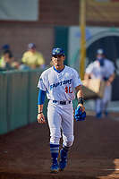 Jimmy Titus (40) of the Ogden Raptors before the game against the Orem Owlz at Lindquist Field on June 22, 2019 in Ogden, Utah. The Owlz defeated the Raptors 7-4. (Stephen Smith/Four Seam Images)