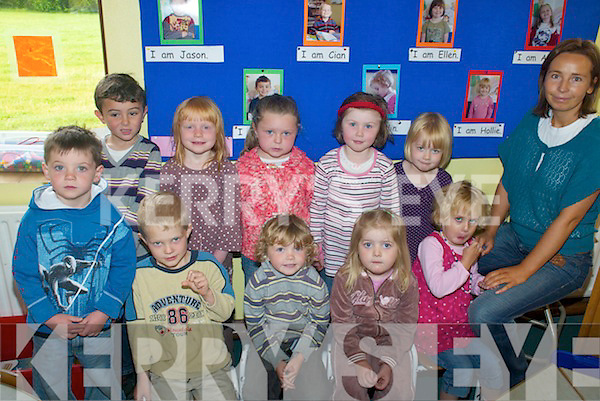 SETTLING IN: The new junior infants class at Cromane National School settling into their first few days at school this week, front l-r: Jason O'Connor, Cian Bubendorfer, Zen O'Flaherty, Emma Carey, Caitlin Rietveld. Back, l-r: Daniel Clifford Moore, Caithlin McMahon, Aoife O'Connor, Ellen O'Connor, Hollie McKenna.   Copyright Kerry's Eye 2008
