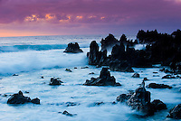 """Wild coast near """"Los hervideros"""", south-west of Lanzarote, Lanzarote Island, Canary Islands, Spain."""