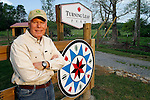 Dale Keasling, CEO of Home Federal Bank, poses for a portrait at his 150-acre farm in Chuckey, Tenn. (Thunderhead Photography/Wade Payne)