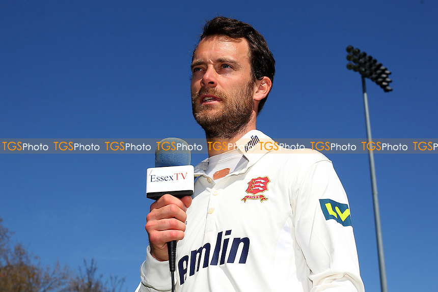 Essex captain James Foster speaks to the media after the win - Essex CCC vs Kent CCC - LV County Championship Division Two Cricket at the Essex County Ground, Chelmsford, Essex - 21/04/15 - MANDATORY CREDIT: TGSPHOTO - Self billing applies where appropriate - contact@tgsphoto.co.uk - NO UNPAID USE
