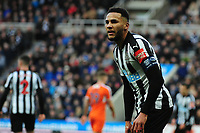 Jamaal Lascelles of Newcastle United during Newcastle United vs Luton Town, Emirates FA Cup Football at St. James' Park on 6th January 2018