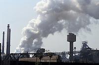 - Genoa Cornigliano, ILVA steel factory..- Genova, acciaieria ILVA di Cornigliano global warming, riscaldamento globale