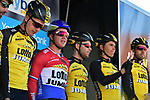 Team Lotto NL-Jumbo at sign on before the start of Stage 1 of the Tour de Yorkshire 2017 running 174km from Bridlington to Scarborough, England. 28th April 2017. <br /> Picture: ASO/P.Ballet | Cyclefile<br /> <br /> <br /> All photos usage must carry mandatory copyright credit (&copy; Cyclefile | ASO/P.Ballet)
