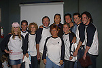 "The Guiding Light cast at the ""Bloss and Friends"" bowling event hosted by Jerry verDorn (Ross) and Liz Kiefer at the Port Authority Bowling lanes to benefit the Cancer Foundation on October 9, 2004 (Photo by Sue Coflin)"