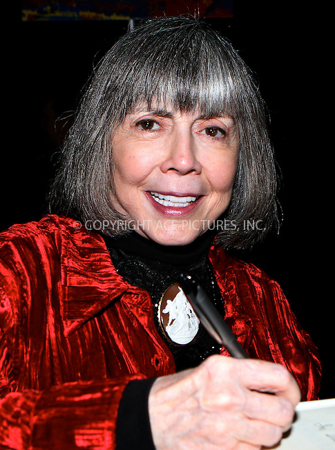 WWW.ACEPIXS.COM....October 13 2012, New York City....Anne Rice at the 2012 New York Comic Con at the Javits Center on October 13, 2012 in New York City....By Line: Nancy Rivera/ACE Pictures......ACE Pictures, Inc...tel: 646 769 0430..Email: info@acepixs.com..www.acepixs.com