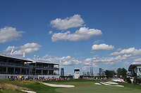 A general view of the 18th hole during the third round of the Northern Trust played at Liberty National Golf Club, Jersey City, USA. 11/08/2019<br /> Picture: Golffile | Phil INGLIS<br /> <br /> All photo usage must carry mandatory copyright credit (© Golffile | Phil Inglis)