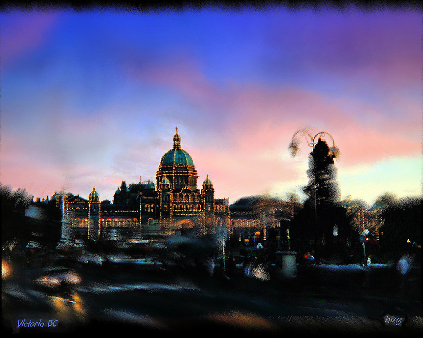 Dusk in Victoria,BC