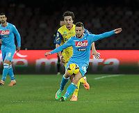 Dries Mertens   in action during the Italian Serie A soccer match between SSC Napoli and Chievo  at San Paolo stadium in Naples, January 25, 2014