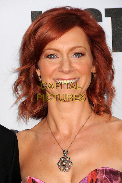 "CARRIE PRESTON.""Lost"" Live: The Final Celebration held at UCLA's Royce Hall, Westwood, California, USA..May 13th, 2010.headshot portrait strapless gold silver necklace pearls .CAP/ADM/BP.©Byron Purvis/AdMedia/Capital Pictures."