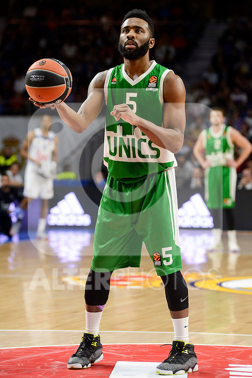 Unics Kazan's player Keith Langford during match of Turkish Airlines Euroleague at Barclaycard Center in Madrid. November 24, Spain. 2016. (ALTERPHOTOS/BorjaB.Hojas)