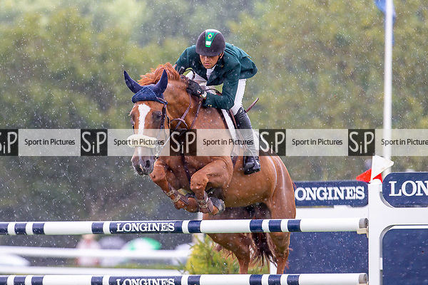 5th Place. Marlon Modolo Zanotelli riding Sirene de le Motte. BRA. Jump Off. The Longines BHS King George V Gold Cup. Longines FEI Jumping Nations Cup of Great Britain at the BHS Royal International Horse Show. All England Jumping Course. Hickstead. Great Britain. 27/07/2018. ~ MANDATORY Credit Elli Birch/Sportinpictures - NO UNAUTHORISED USE - 07837 394578