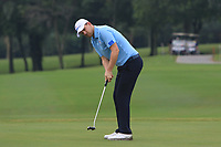 Bernd Wiesberger (Europe) on the 8th green during the Saturday Foursomes of the Eurasia Cup at Glenmarie Golf and Country Club on the 13th January 2018.<br /> Picture:  Thos Caffrey / www.golffile.ie