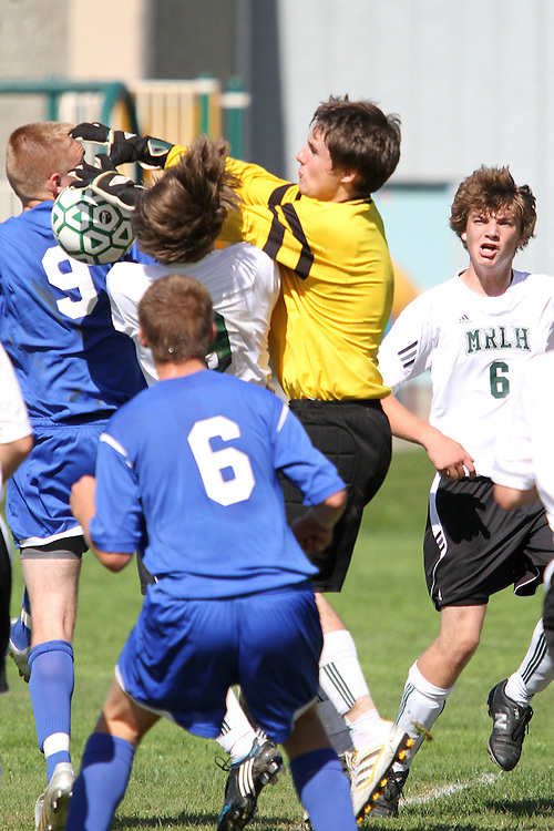 Photograph from the 2010 Mt. Rainier Lutheran High School soccer season.
