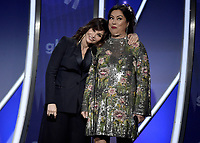 BEVERLY HILLS, CA - MARCH 28:  Gina Gershon, Jennifer Tilly at the 30th Annual GLAAD Media Awards at the Beverly Hilton on March 28, 2019 in Beverly Hills, California. (Photo by Frank Micelotta/PictureGroup)