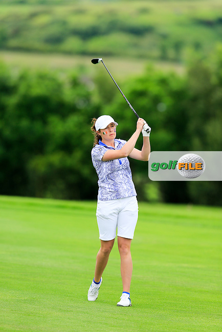 Rochelle Morris during Sunday Singles matches at the 2016 Curtis cup from Dun Laoghaire Golf Club, Ballyman Rd, Enniskerry, Co. Wicklow, Ireland. 12/06/2016.<br /> Picture Fran Caffrey / Golffile.ie<br /> <br /> All photo usage must carry mandatory copyright credit (&copy; Golffile | Fran Caffrey)