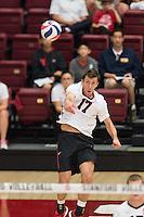 STANFORD, CA - April 18, 2015:  The Stanford Cardinal vs UC Santa Barbara Gauchos at Maples Pavilion in Stanford, CA. Final score, Stanford 0, UC Santa Barbara 3.