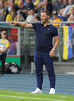 Trainer Pal Dardai gesture,        <br /> / Sport / Football / DFB Pokal 1.round 3. Bundesliga Bundesliga /  2018/2019 / 20.08.2018 / BTSV Eintracht Braunschweig vs. Hertha BSC Berlin / DFL regulations prohibit any use of photographs as image sequences and/or quasi-video. /<br />       <br />    <br />  *** Local Caption *** &copy; pixathlon<br /> Contact: +49-40-22 63 02 60 , info@pixathlon.de