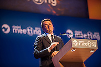 Matteo Renzi, presidente del consiglio, ospite al meeting di CL