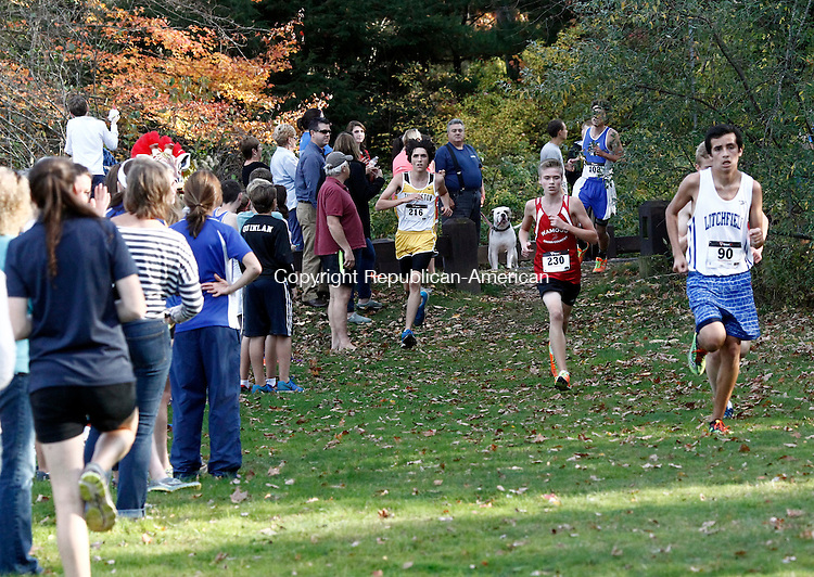 Thomaston, CT- 17 October 2014-101714CM08- Runners make their way through the course during the  Berkshire League cross country meet at Black Rock State Park in Thomaston on Friday.   Christopher Massa Republican-American