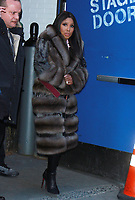 NEW YORK, NY - JANUARY 25: Toni Braxton seen after an appearance on Good Morning America in New York City on January 25, 2018. Credit: RW/MediaPunch