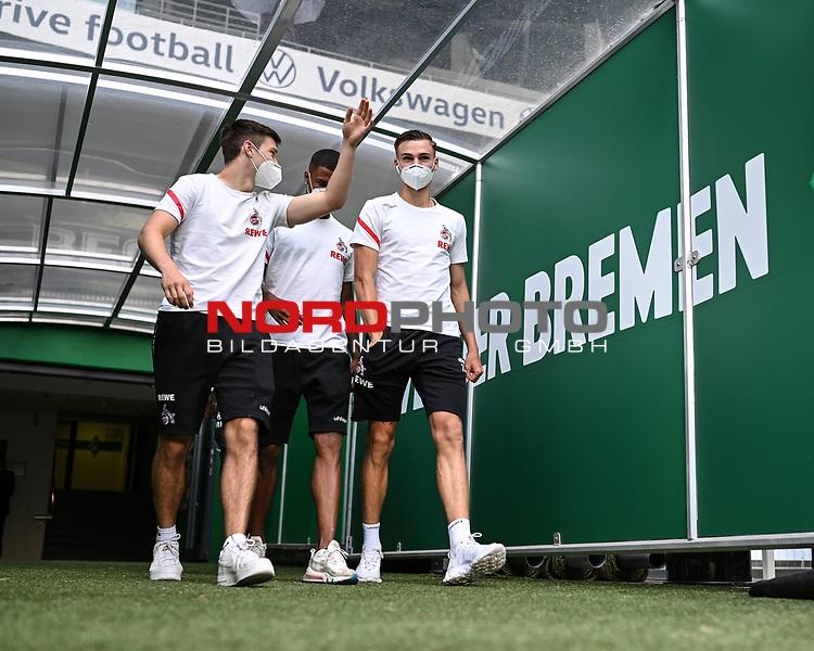 Spieler des 1. FC Koeln gehen zum Aufwaermen auf den Platz.<br /><br />Sport: Fussball: 1. Bundesliga:: nphgm001:  Saison 19/20: 34. Spieltag: SV Werder Bremen - 1. FC Koeln, 27.06.2020<br /><br />Foto: Marvin Ibo GŸngšr/GES/Pool/via gumzmedia/nordphoto