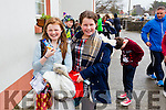 Michaela McAdam and  Molly O'Neill (sixth class pupils pictured at the last day of school in Blennerville National School, Tralee, as their new school will open in January 2016.