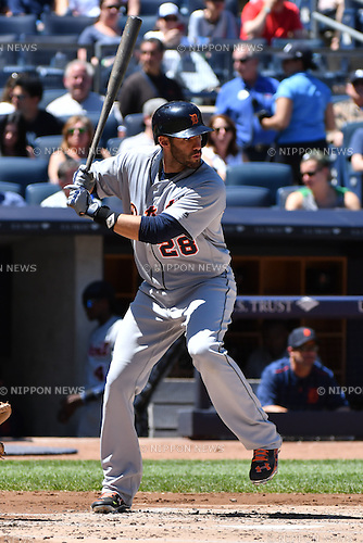 J.D. Martinez (Tigers),<br /> JUNE 12, 2016 - MLB :<br /> J.D. Martinez of the Detroit Tigers during the Major League Baseball game against the New York Yankees at Yankee Stadium in the Bronx, New York, United States. (Photo by Hiroaki Yamaguchi/AFLO)