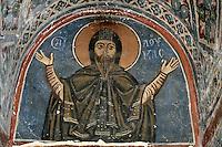 St. Loukas,wall-painting,Panagia Church,10th century,Osios Loukas Monastery,Greece