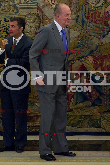 12.09,2012. King Juan Carlos I of Spain attend the delivery of 'XXIII FIES Journalism Award', awarded to Juan Manuel de Prada at the Zarzuela Palace. In the image King Juan Carlos of Spain  (Alterphotos/Marta Gonzalez) /NortePhoto<br />