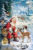 Interlitho, Patricia, CHRISTMAS SANTA, SNOWMAN, paintings, santa, deers, dogs, KL5859,#X# Weihnachten, nostalgisch, Navidad, nostálgico, illustrations, pinturas