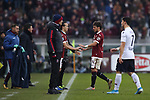 Simone Verdi of Torino FC is substituted for Diego Laxalt during the Serie A match at Stadio Grande Torino, Turin. Picture date: 12th January 2020. Picture credit should read: Jonathan Moscrop/Sportimage