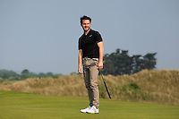 Gerard Dunne (Co. Louth) on the 15th green during Round 3 of the East of Ireland Amateur Open Championship sponsored by City North Hotel at Co. Louth Golf club in Baltray on Monday 6th June 2016.<br /> Photo by: Golffile   Thos Caffrey