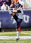 Virginia Cavaliers punter Alec Vozenilek (30) in action during the game between the Virginia Cavaliers and the TCU Horned Frogs  at the Amon G. Carter Stadium in Fort Worth, Texas. TCU defeats Virginia 27 to 7...
