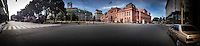 A panoramic view of Casa Rosada government palace in Buenos Aires, during a general strike in Argentina, November 2012...Photo by Roberto Candia