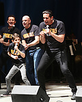 Nick Cordero and the cast of 'A Bronx Tale' backstage at United Airlines Presents #StarsInTheAlley free outdoor concert in Shubert Alley on 6/2/2017 in New York City.