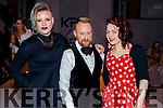 Gretta Lalita (Tralee), David Babington (Material Boy), Cork and Gillian Looney (Cork), enjoying KFW Irish Fashion Industry Awards at the Europe Hotel, Killarney on Friday night last.