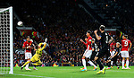 Marcus Rashford (R) of Manchester United hits the crossbar with a longe range shot during the UEFA Europa League match at Old Trafford Stadium, Manchester. Picture date: September 29th, 2016. Pic Matt McNulty/Sportimage