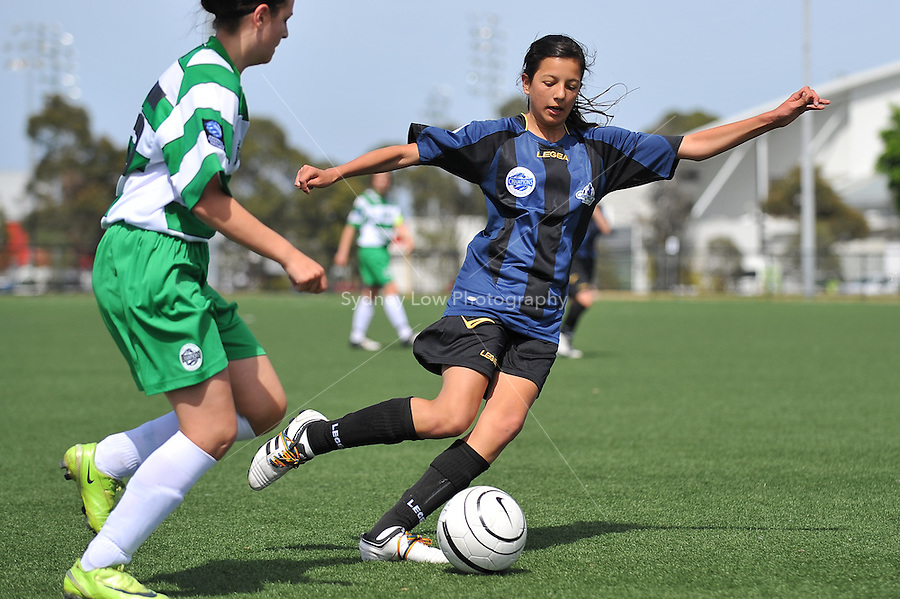MELBOURNE, AUSTRALIA - November 15: Round 6 of the Victorian Champions League between Central City FC and South East Cougars at Darebin International Sports Centre on 15 November, 2009, Australia. Photo Sydney Low www.syd-low.com