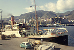 Europe, ESP, Spain, Balearic Islands, Majorca, Palma de Mallorca, In the sixties, Historical image, Port, Harbour, Ship, Steamer, Steamship, Car, Freighter, Historic image from the sixties., Traffic, Ship, Ships, Boat, Transportation, Naviagtion, Shipping, Hystory, Historic, Historical, Historical image, Historical photography, Contemporary, Historic image, Historic photography....Europa, ESP, Spanien, Balearen, Mallorca, Palma de Mallorca, 60er Jahre, Historische Aufnahme, Hafen, Dampfschiff, Frachter, Reisen und Urlaub in den 60er Jahren. Historische Fotografie die in den 60er Jahren entstand und den Zeitgeist der damaligen Zeit symbolisiert., Tourismus, Touristik, Touristisch, Urlaub, Reisen, Reisen, Ferien, Urlaubsreise, Freizeit, Historisch, Geschichte, Geschichtliches, Historische Aufnahme, Historische Fotografie....[For each utilisation of my images my General Terms and Conditions are mandatory. Usage only against use message and proof. Download of my General Terms and Conditions under http://www.image-box.com or ask for sending. A clearance before usage is necessary. Material is subject to royalties. Each utilisation of my images is subject to a fee in accordance to the present valid MFM-List. Contact: Uwe Schmid-Photography, Duisburg, Germany, Tel. (+49).2065.677997,..schmid.uwe@onlinehome.de, www.image-box.com]