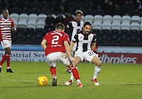 Ryan Edwards closes down Aaron McGowan in the St Mirren v Hamilton Academical Scottish Professional Football League Ladbrokes Premiership match played at the Simple Digital Arena, Paisley on 1.12.18.