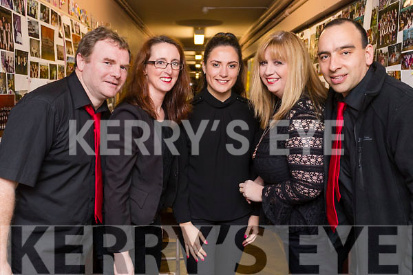 Crotta instrumental group l-r: Mike Rice, Niamh Abeyta, Sinead O'Sullivan, Mairead Curran and Sean Abeyta  at the Scor Sinsear county finals at Mhuire Gan Smal, Castleisland on Saturday night.