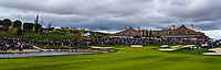 Looking towards the 18th green during Round 4 of the Open de Espana 2018 at Centro Nacional de Golf on Sunday 15th April 2018.<br /> Picture:  Thos Caffrey / www.golffile.ie<br /> <br /> All photo usage must carry mandatory copyright credit (&copy; Golffile | Thos Caffrey)