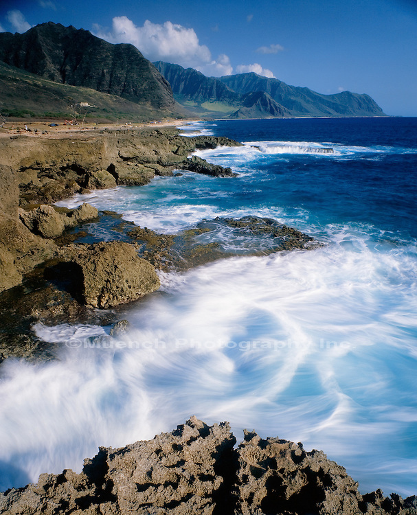 """Keawaula Beach and Waianae Mountains, Oahu   HAWAII"""