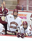 John Hegarty, Mike Brennan, Anthony Aiello - Boston College defeated Merrimack College 3-0 with Tim Filangieri's first two collegiate goals on November 26, 2005 at Kelley Rink/Conte Forum in Chestnut Hill, MA.
