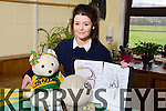 Presentation Secondery School Tralee Ciara Begley was a BT Young Scientist entrant, which took place in the RDS in Dublin from the 6th to the 10th of January.<br /> Ciara's project was based on injuries suffered during training for Football and Hurling.