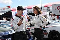 Sam Witwer, Tricia Helfer<br /> at the Toyota Grand Prix of Long Beach Pro/Celebrity Race Press Day, Long Beach Grand Prix Raceway, Long Beach, CA 04-01-14<br /> David Edwards/DailyCeleb.Com 818-249-4998