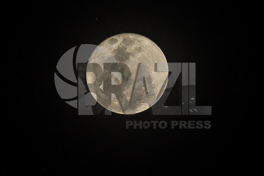 GUARULHOS, SP, 16.10.2016 - SUPER LUA - Vista do fenômeno Super Lua na cidade de Guarulhos, Grande São Paulo na noite deste domingo (16)