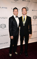 NEW YORK, NY - MARCH 10: Actors David Burtka and Neil Patrick Harris attend the Hasty Pudding Institute of 1770 Honors David Heyman at the Order of the Golden Sphinx Gala at the Appel Room at Jazz at Lincoln Center on March 10, 2014 in New York City.  ©HP/Starlitepics /NORTEPHOTO.COM